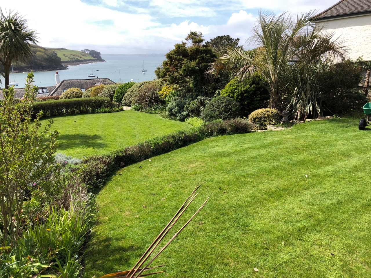 Client lawn Cornwall Lawn Care services