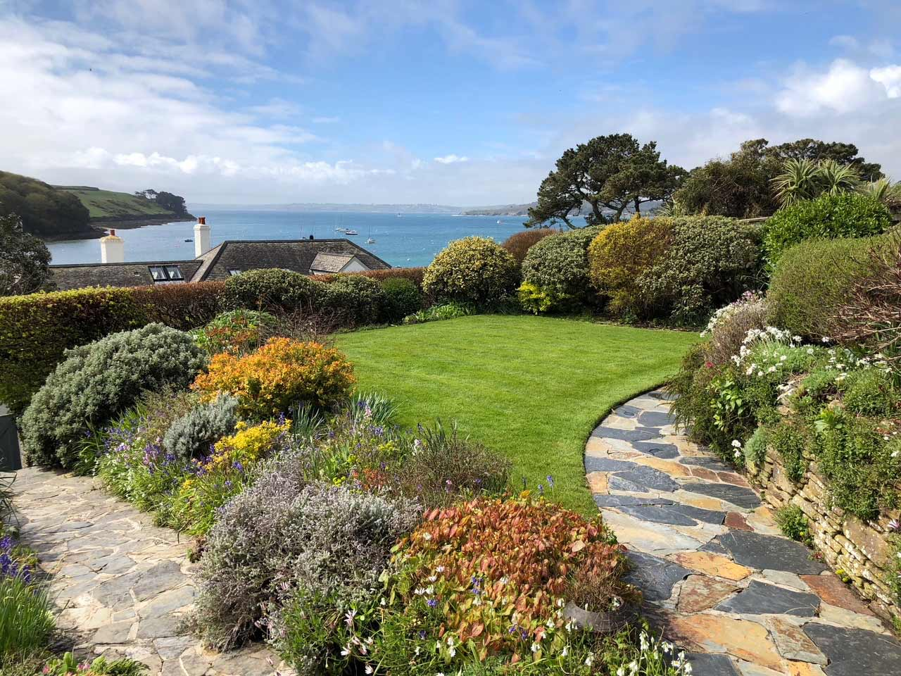 Example client perfect weed free grass Cornwall Lawn Care
