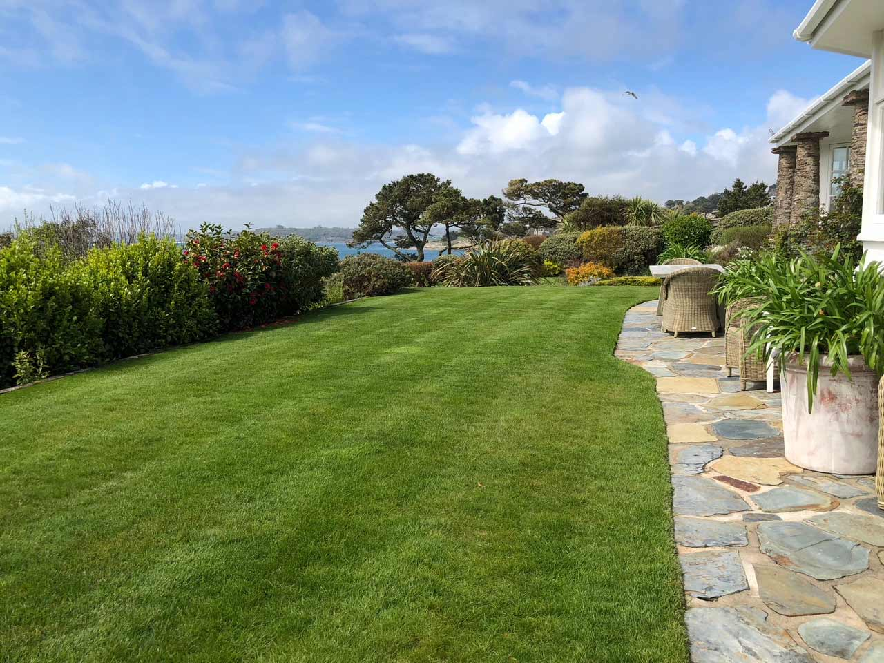 Perfect client lawn from Cornwall Lawn Care services
