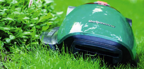 Robomow working automatically cutting the lawn in Cornwall